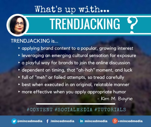 Quick Reference Guide - Trendjacking by @mincedmedia